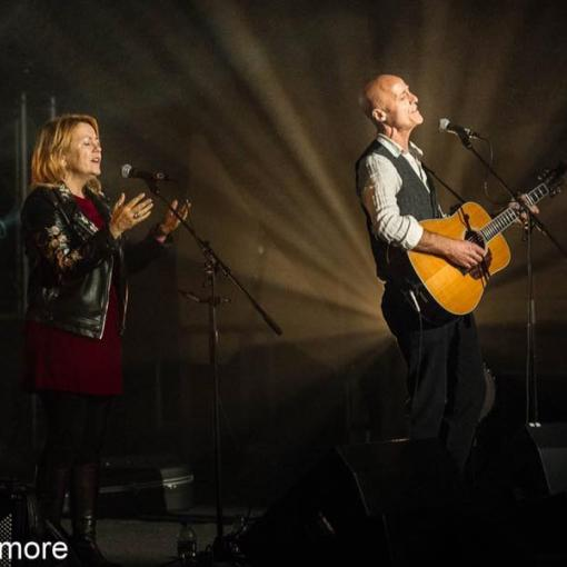Both of us singing on Mainstage at Derby Festival