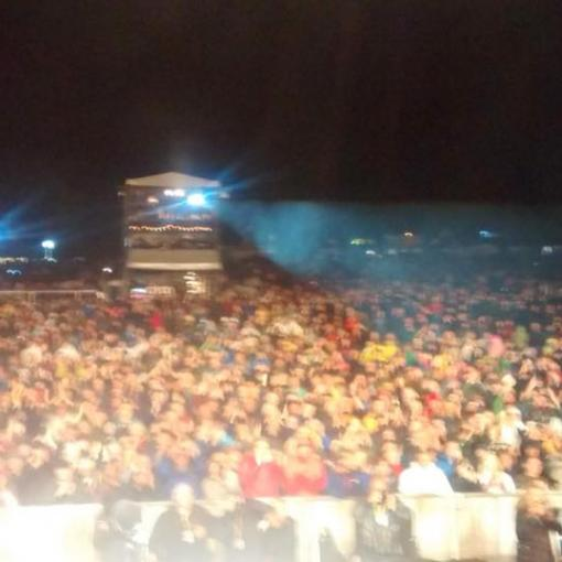 The Cropredy audience from the stage