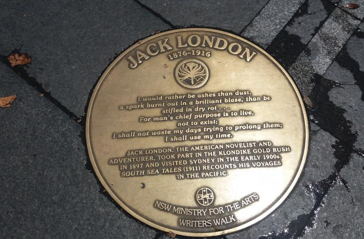 Photo of Plaque commemorating Jack London