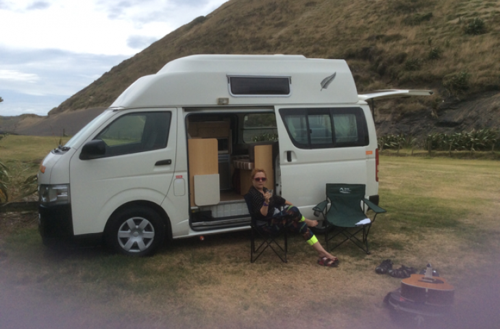 A photo of Queenie the campervan