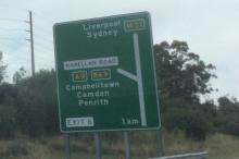 Photo of road sign