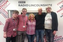 Photo of Kip and Dave in the studio with the Radio Lincolnshire team